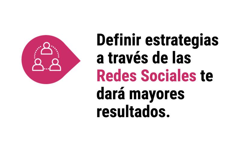 Estrategias a través de las redes sociales